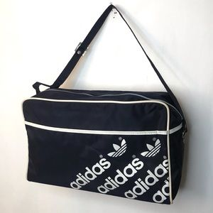 Vintage Adidas Shoe Bag Navy Spell Out Trefoil